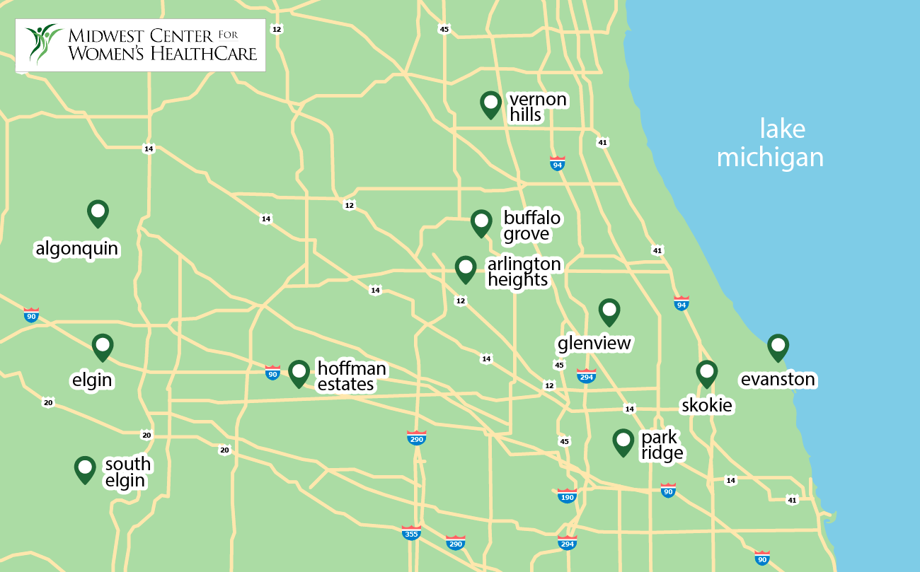 Map of Midwest Center For Women's HealthCare Offices